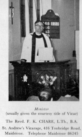 1957-1973 Rev. Kieth Chare.